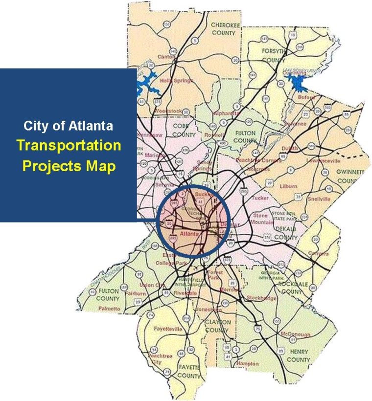 Map of Transportation Projects