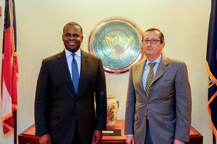 mayor kasim reed joined consul general of france in atlanta denis barbet for a final meeting to atlanta tel aviv business