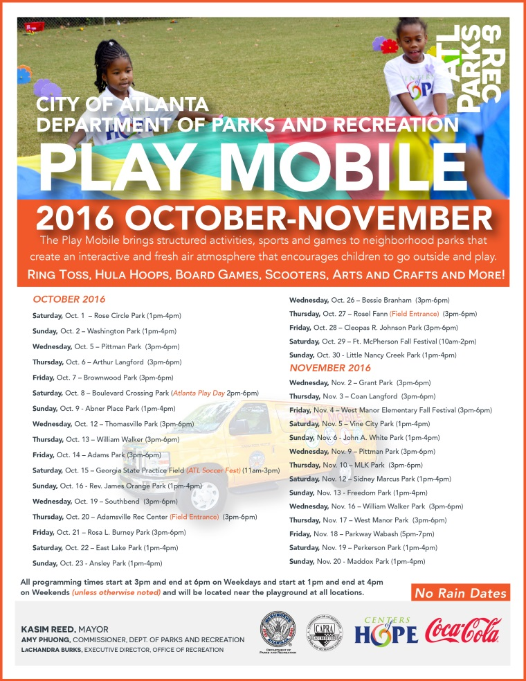 2016 Play Mobile Revised Schedule Oct-Nov