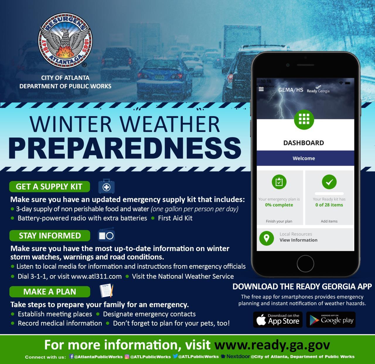 Atlanta, GA : Winter/Inclement Weather