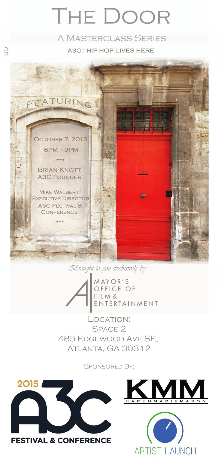 Atlanta Ga Event List View The Door A Masterclass Series A3c