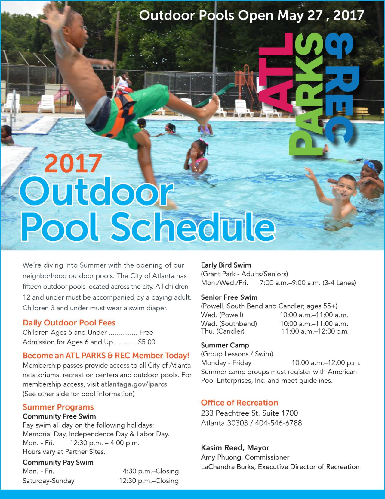 2017 Outdoor Pool Schedule-1.1