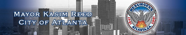 Mayor Kasim Reed press release header