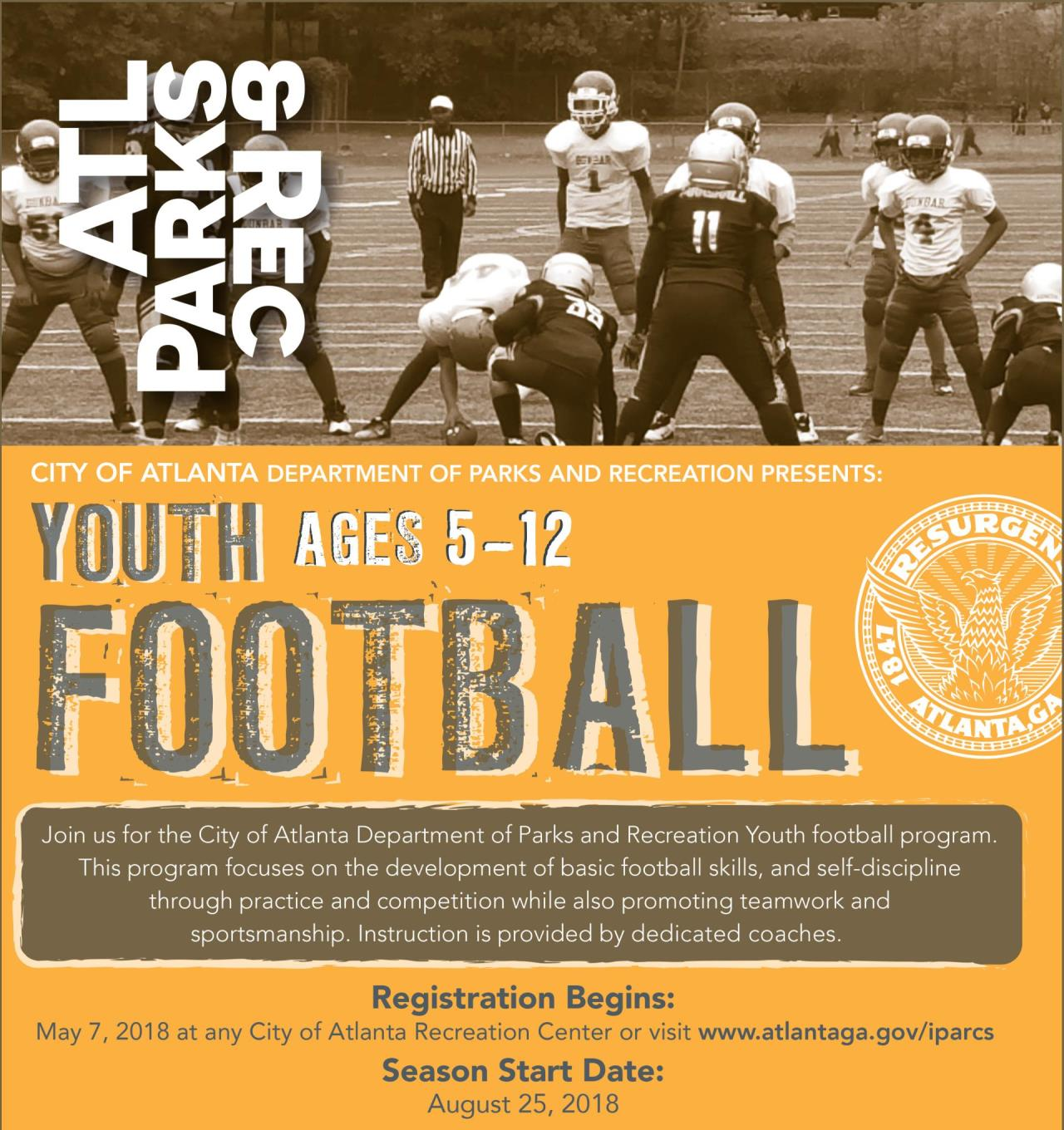 2018 Youth Football Flyer rev e8382375b