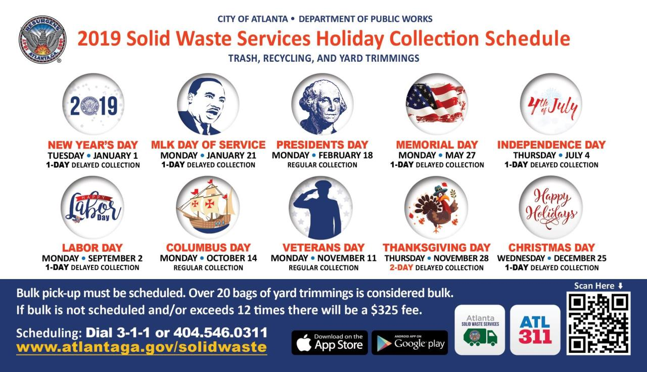 2019 DPW Holiday Calender Magnet