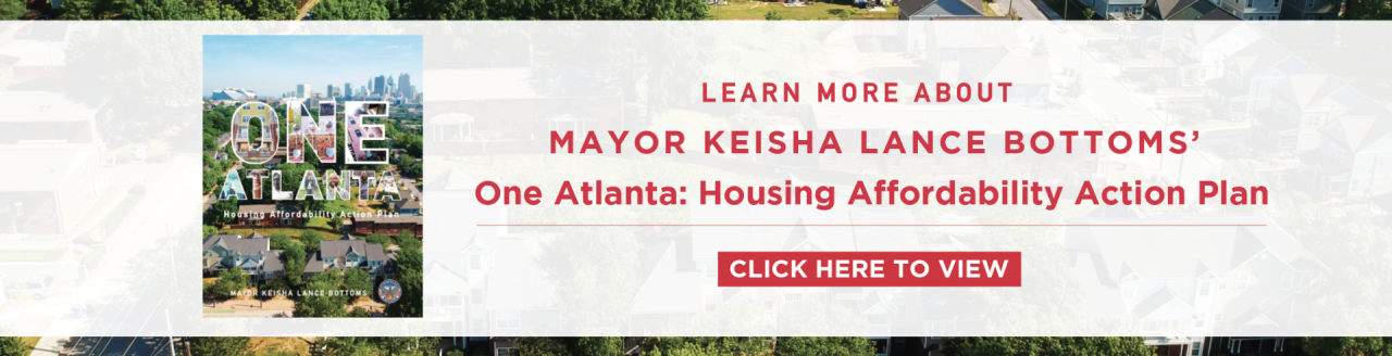 1ONE ATLANTA HOUSING PLAN BANNER
