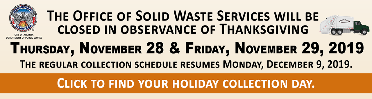Solid Waste Holiday Collection Days