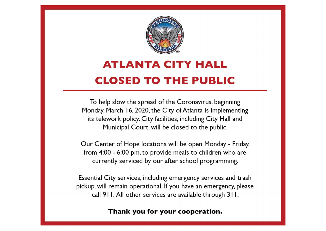 City Hall closed