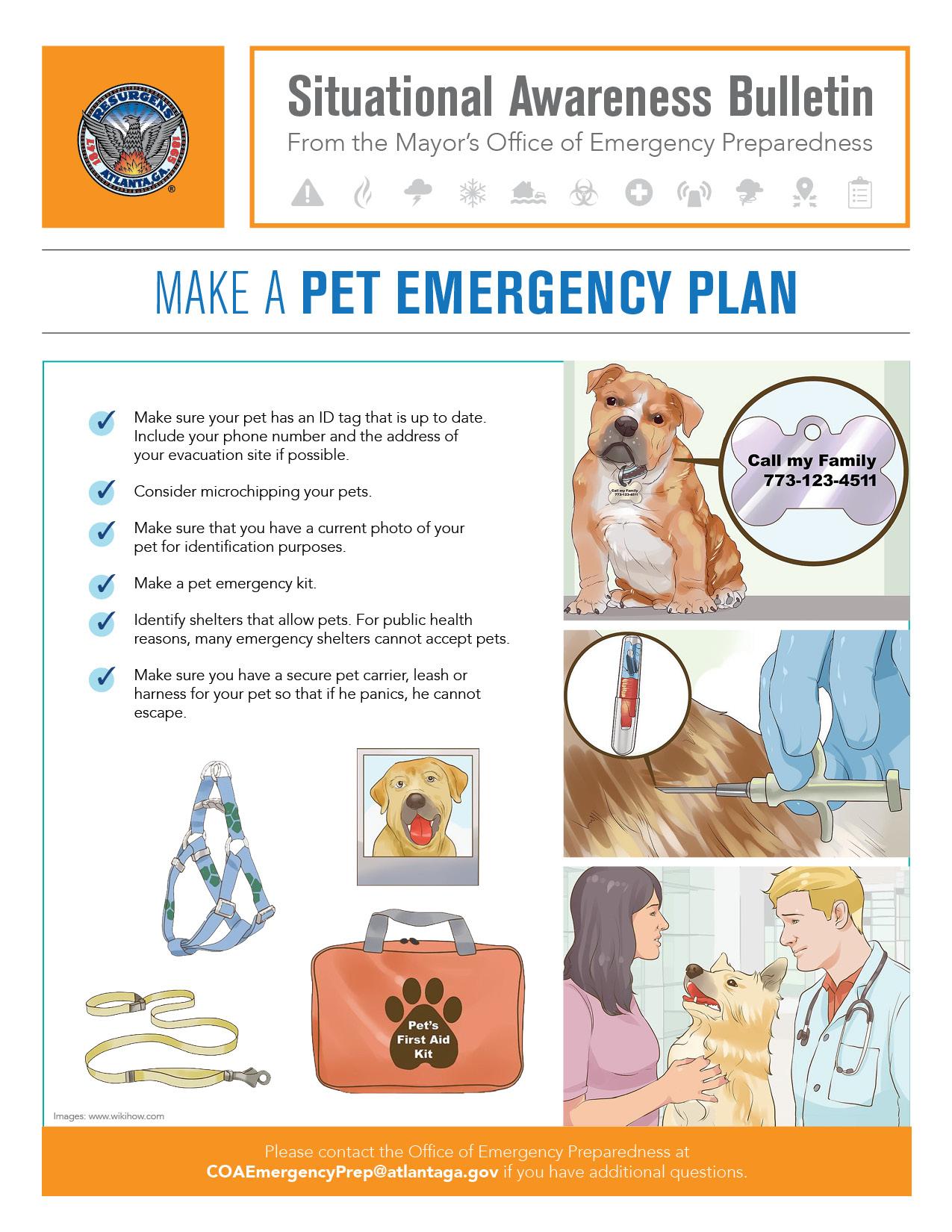 Making a Pet Emergency Plan