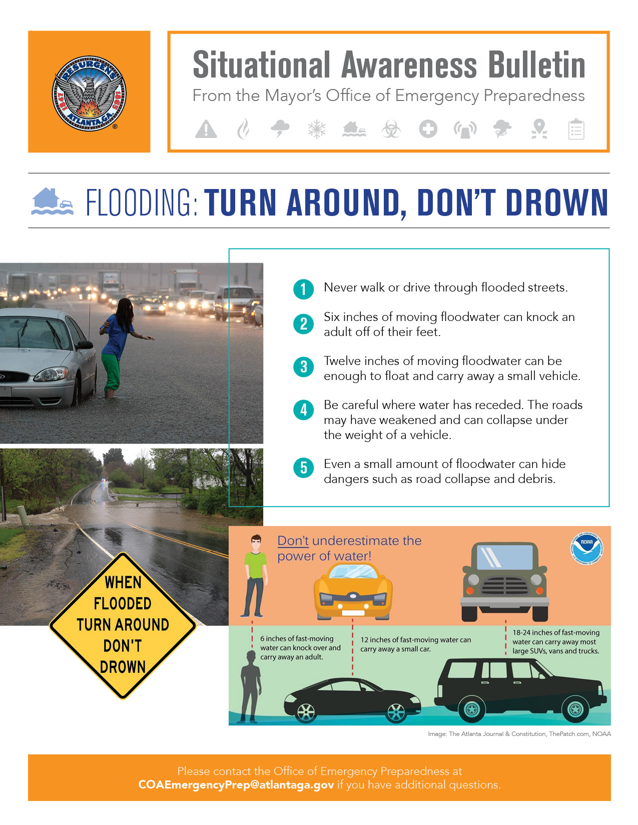 Flooding Turn Around, Don't Drown