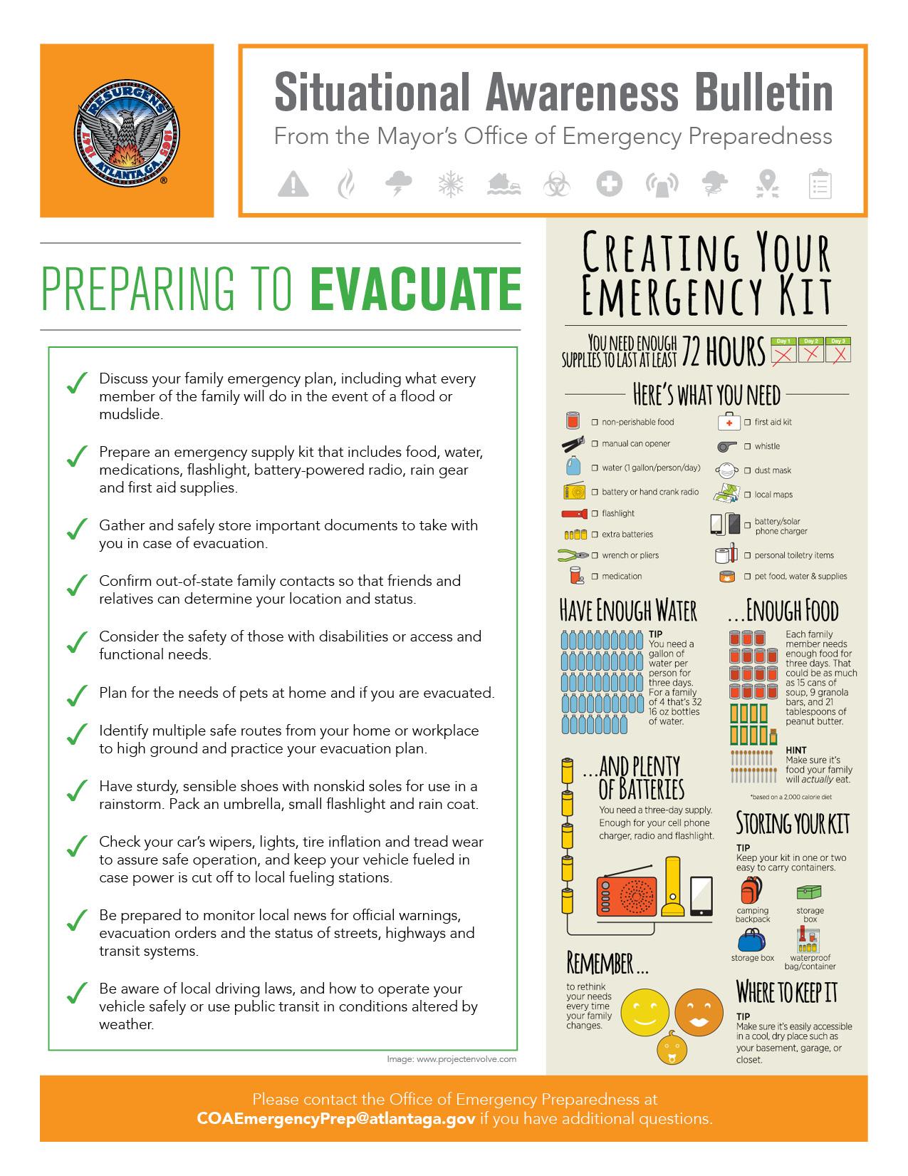 Preparing to Evacuate