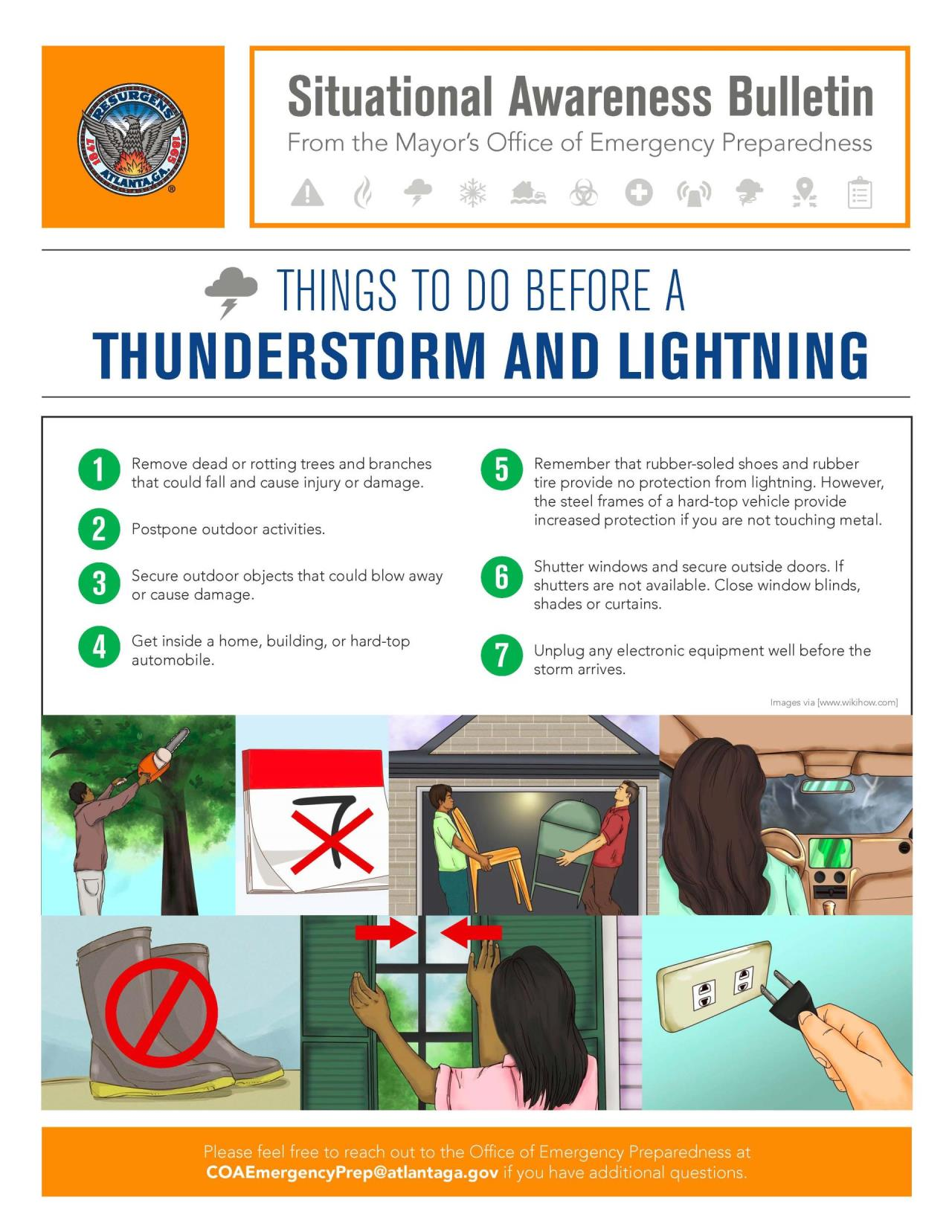 Things to do Before a Thunderstorm and Lightening